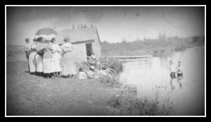 Baptism. Flewelling lake, Easton-001